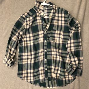 Green & White Flannel